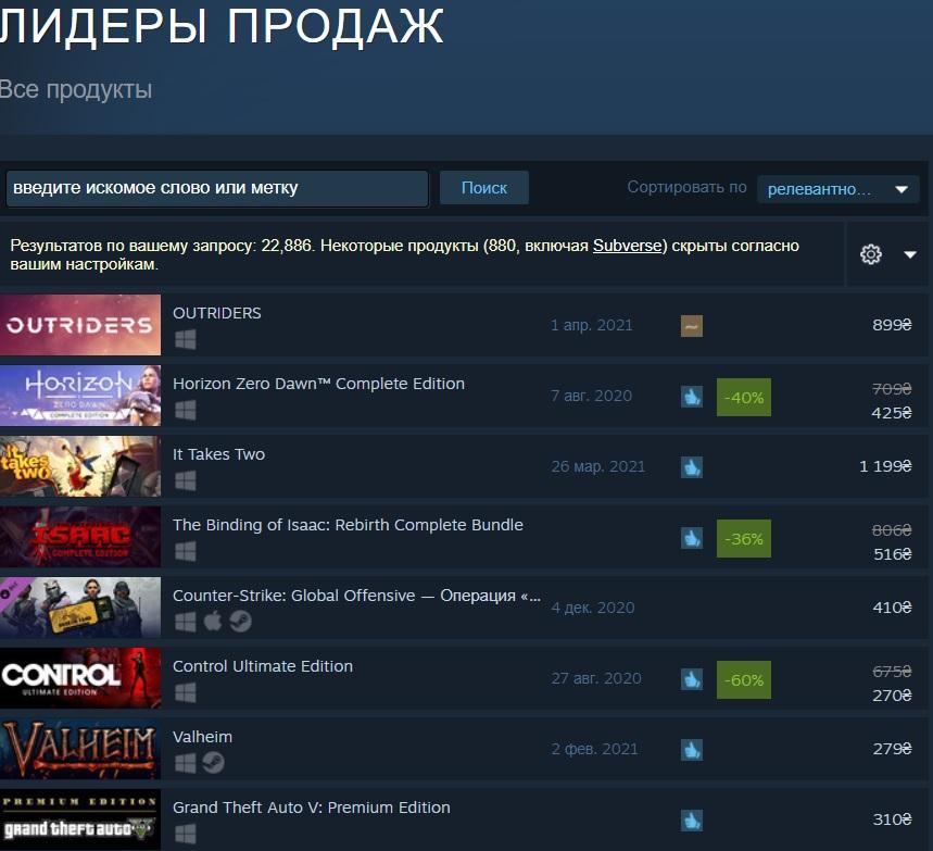 Outriders став лідером продажів в Steam / скріншот