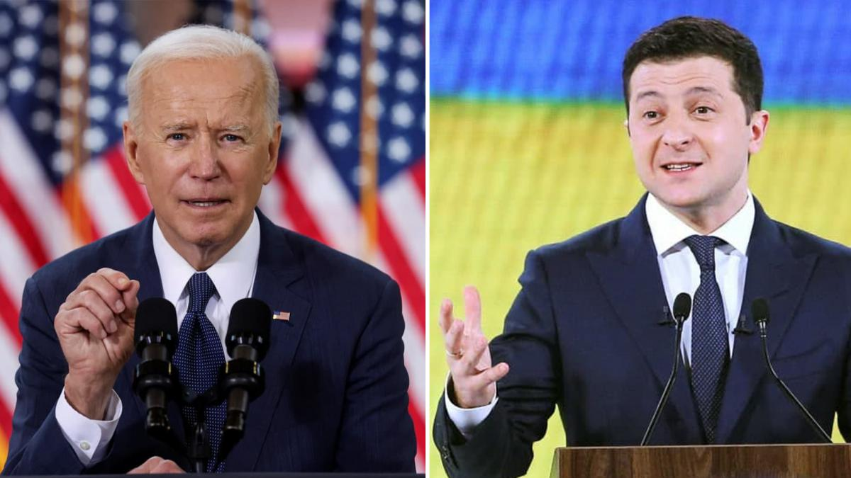 Joe Biden and Volodymyr Zelensky / Collage by UNIAN