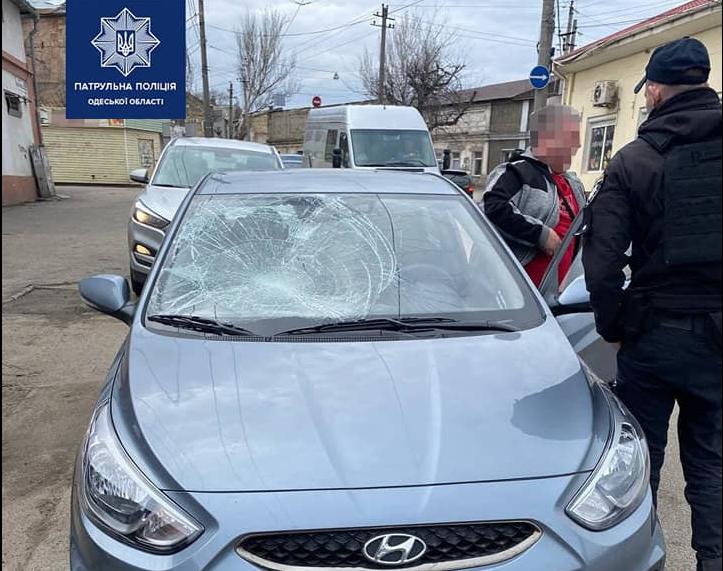 В Одессе произошло опасное ДТП / патрульная полиция Одской области