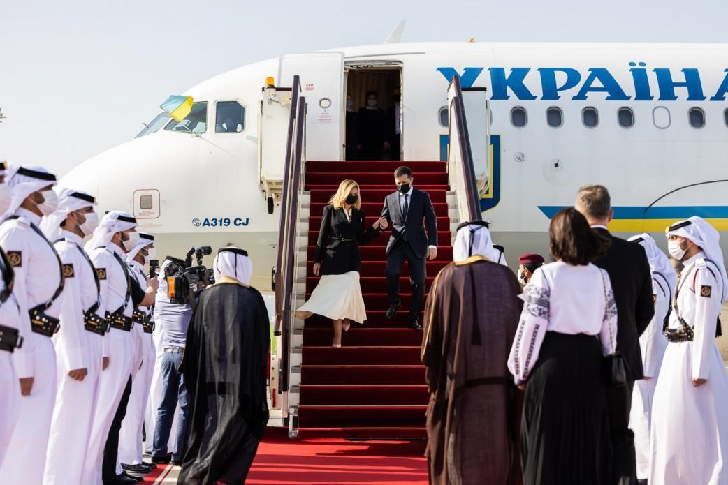 Зеленский с супругой совершают визит в Катар \ фото president.gov.ua