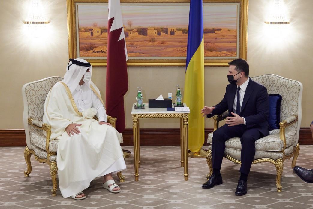 Зеленский находится с визитом в Катаре \ president.gov.ua