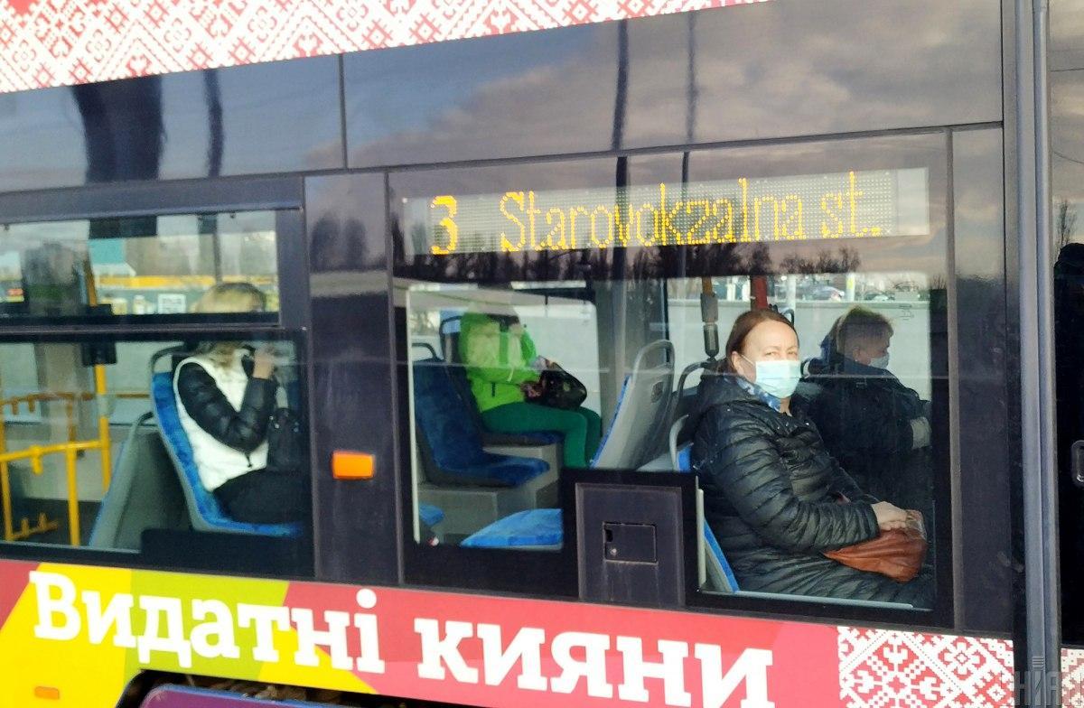 Городской транспорт ездил практически пустой / фото УНИАН, Александр Синица