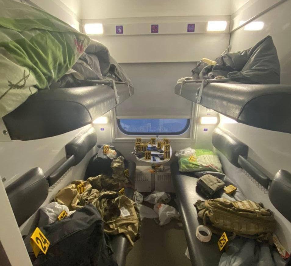 Раскрыты подробности задержания стрелков в пассажирском поезде / МВД Украины