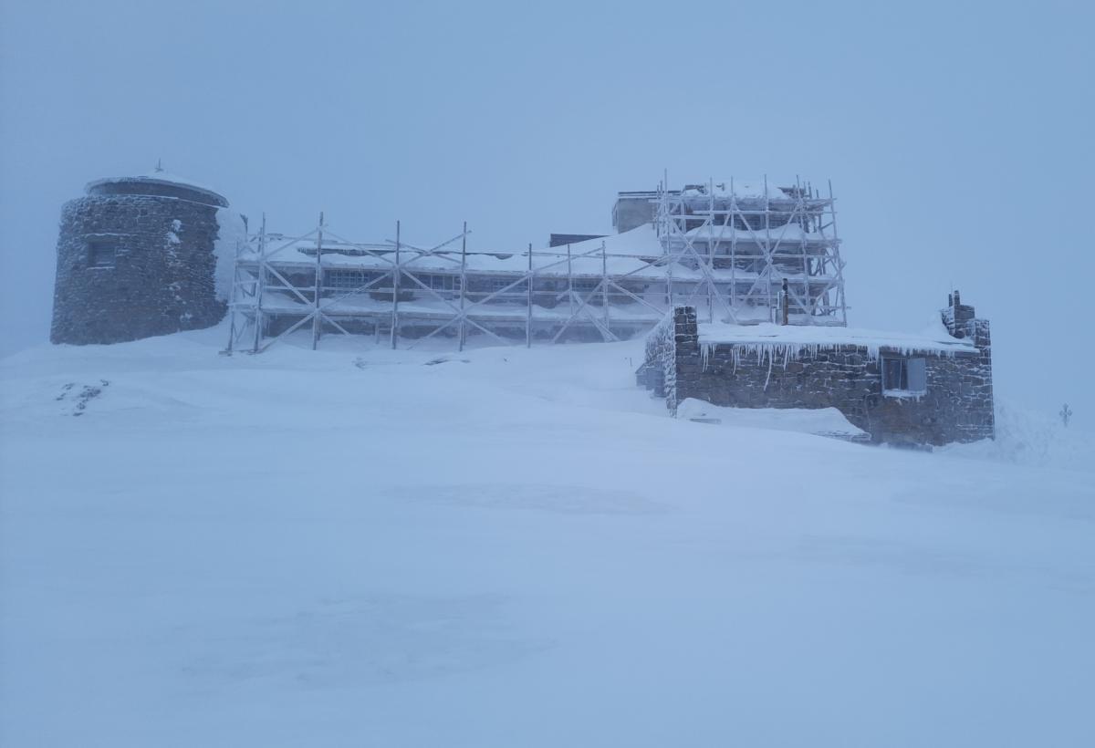 В горах идет снег / Фото facebook.com/chornogora.rescue112