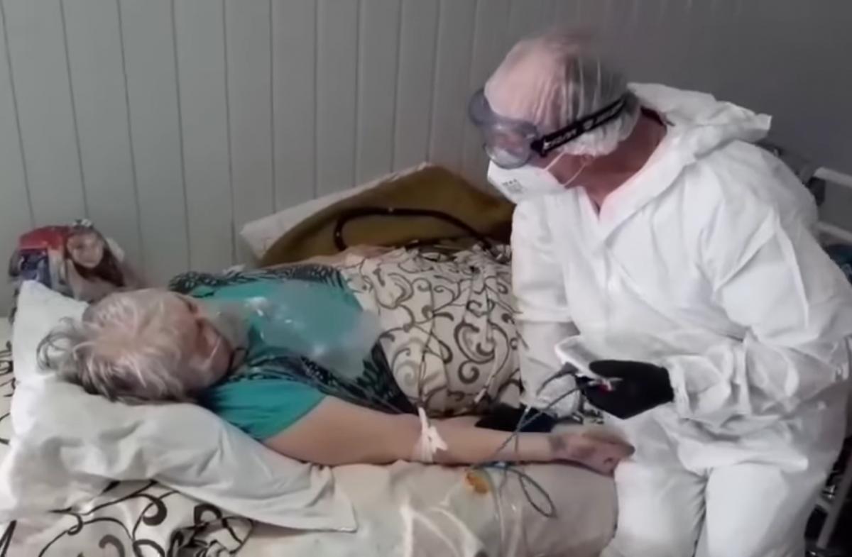 21-я горбольница в Днепре переполнена / Скриншот с видео