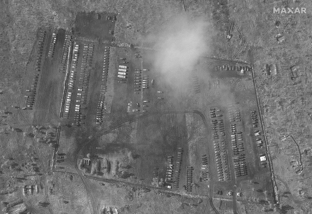 Тимчасовий російський військовий табір під Воронежем / фото Christiaan Triebert