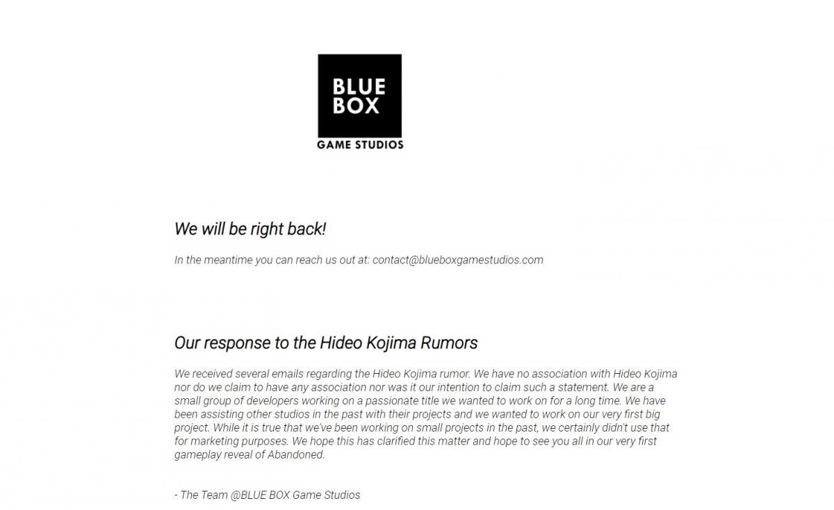 Это вся информация, что есть на сайте студии Blue Box /скриншот