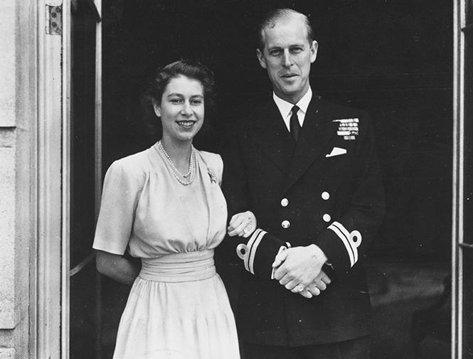 Филипп и Елизаветы незадолго до свадьбы / фото Marie claire