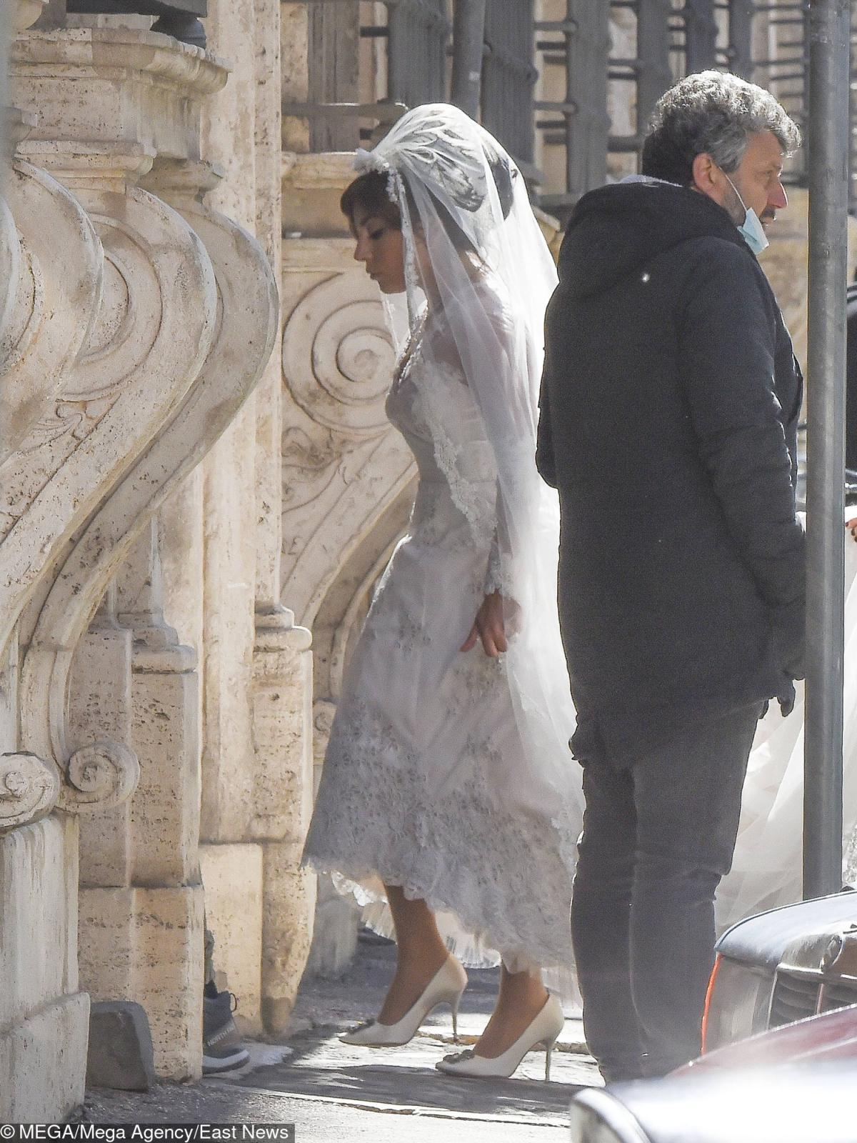 Гага участвовала в съемках эпизода свадьбы своей героини Патриции Гуччи \ eastnews.ua