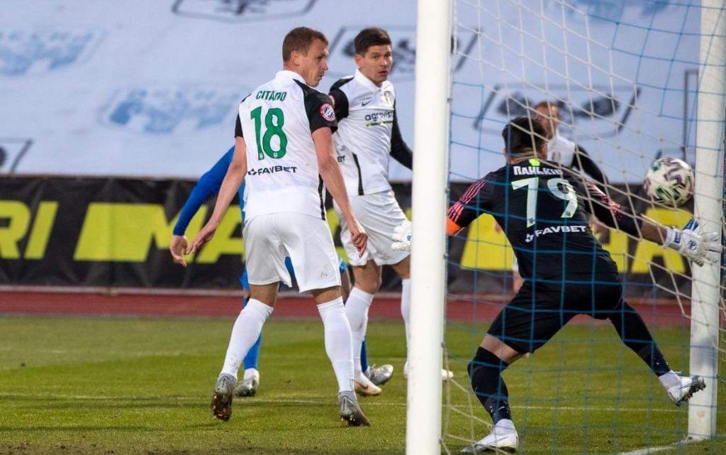 В воротах Юрия Панькива побывало четыре гола / фото ФК Десна