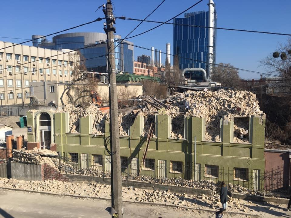 Будинок Уткіна знаходився на вулиці Симона Петлюри/ фото Київська міська прокуратура