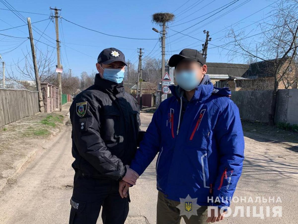 Подія сталась на вулиці Донбасівській у місті Васильків/ фото поліція