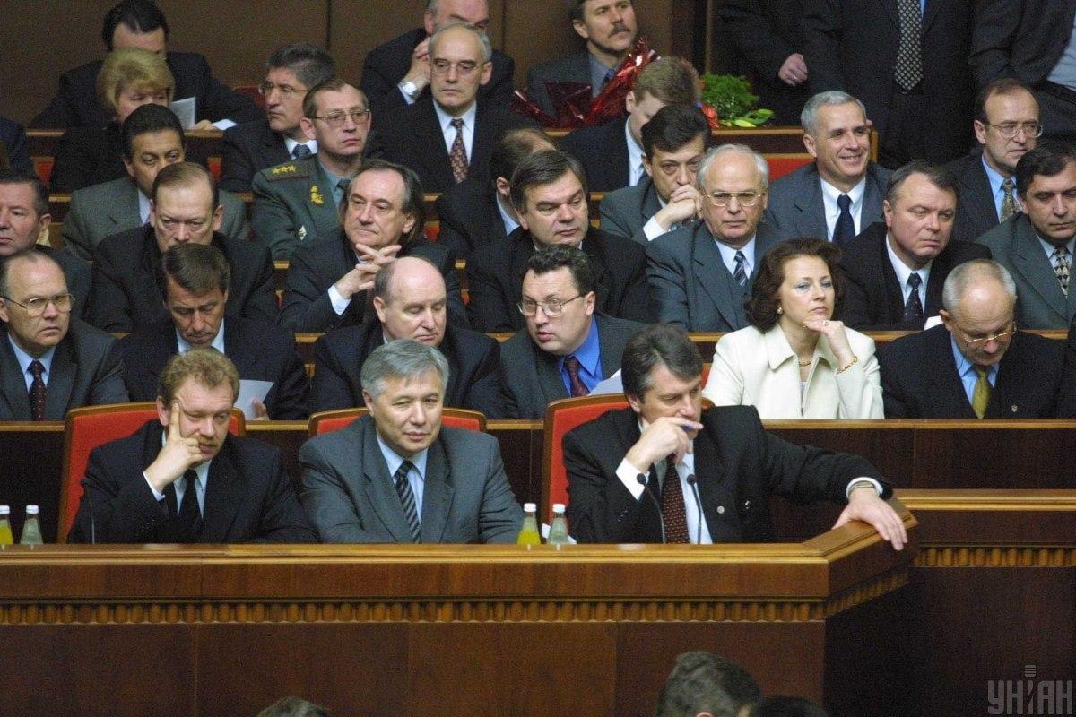 У квітні 2001 року пропрезидентська більшість відправляє у відставку уряд Віктора Ющенка / фото УНІАН, Віктор Побединський