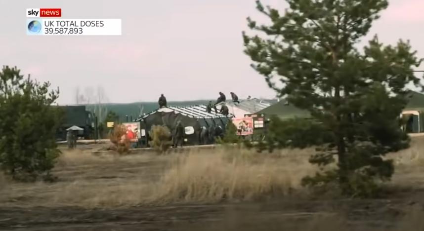 Военный лагерь России у границы с Украиной / скриншот