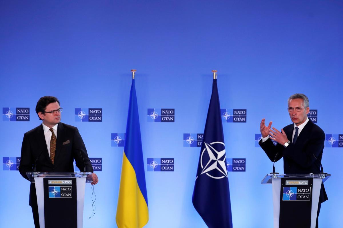 Jens Stoltenberg and Dmytro Kuleba held a joint press point/ REUTERS