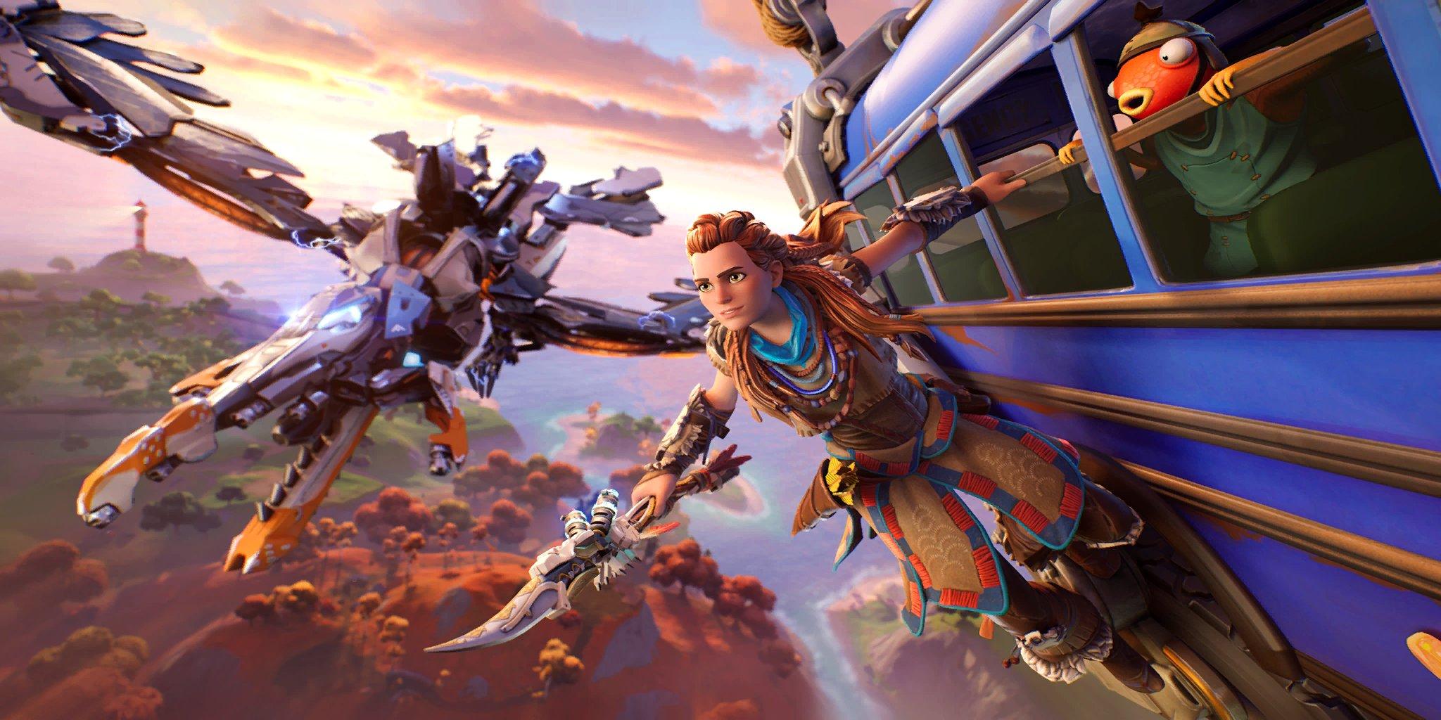 Элой из Horizon Zero Dawn в королевской битве Fortnite /фото twitter.com/shiinabr