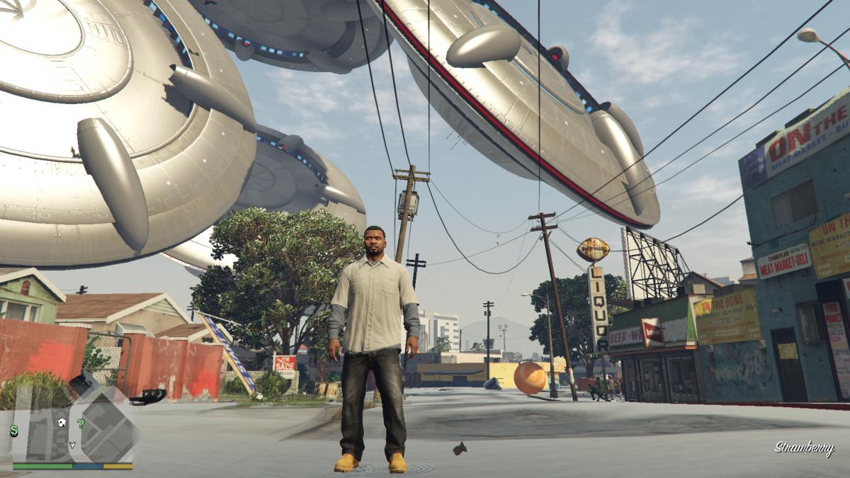 Читеры уже научились мешать игрокам в сюжетном режиме GTA V /скриншот