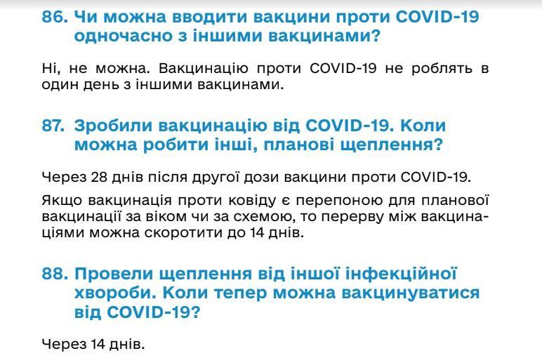 Данные Минздрава Украины