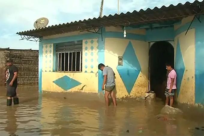 В Перу произошли внезапные наводнения / скриншот с видео