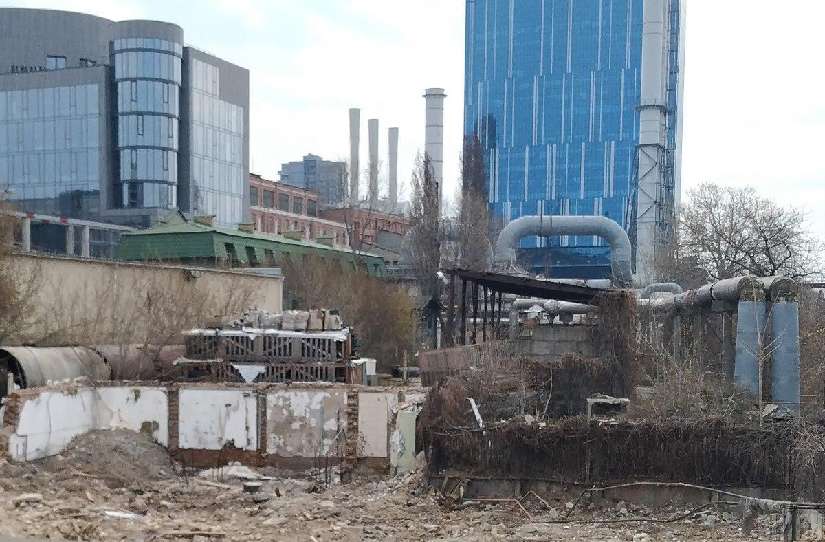 Місце знесення будинку Уткіна у Києві / фото УНІАН, Олександр Синиця