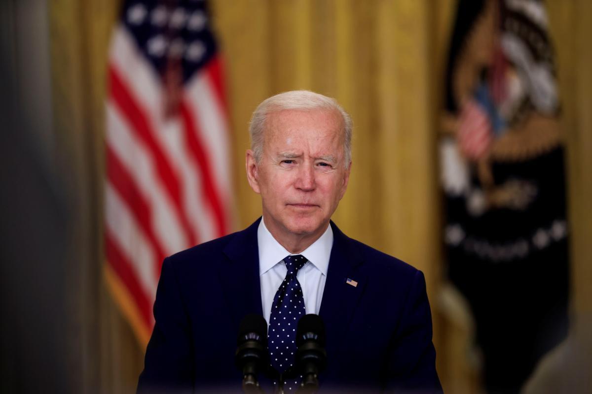 Biden reiterates U.S. support for Ukraine / REUTERS