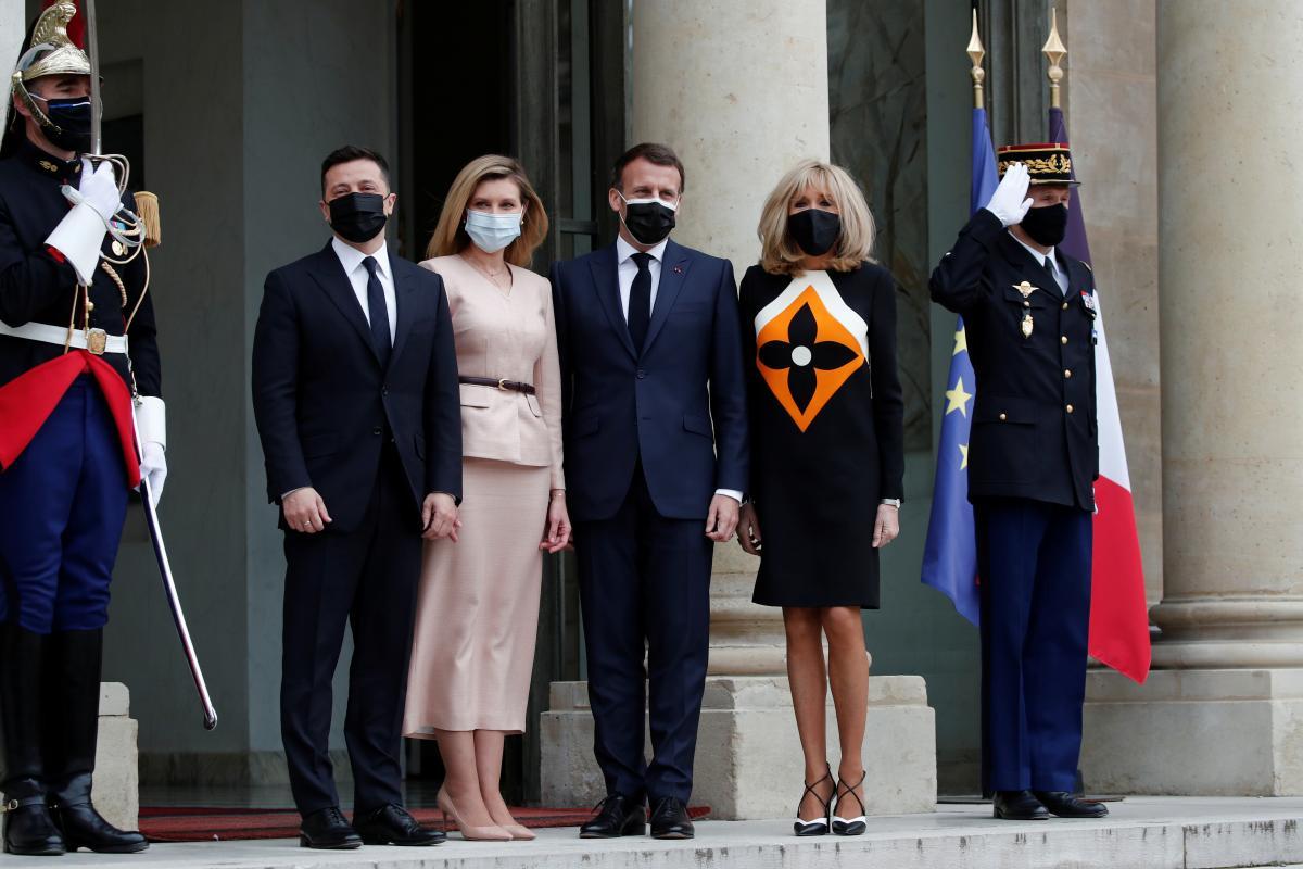 У Парижі в Єлисейському палаці зустрілися Зеленський та Макрон/ фото REUTERS