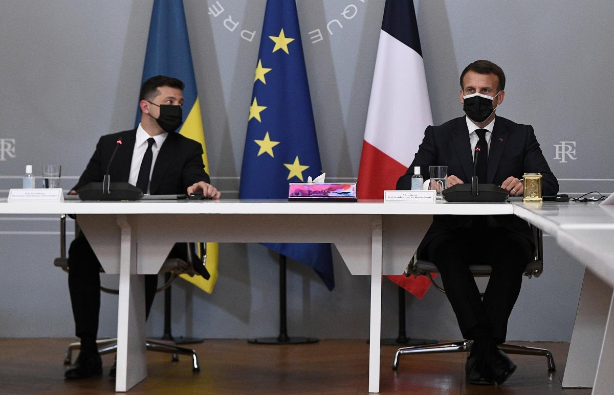 Зеленський і Макрон провели зустріч / фото REUTERS