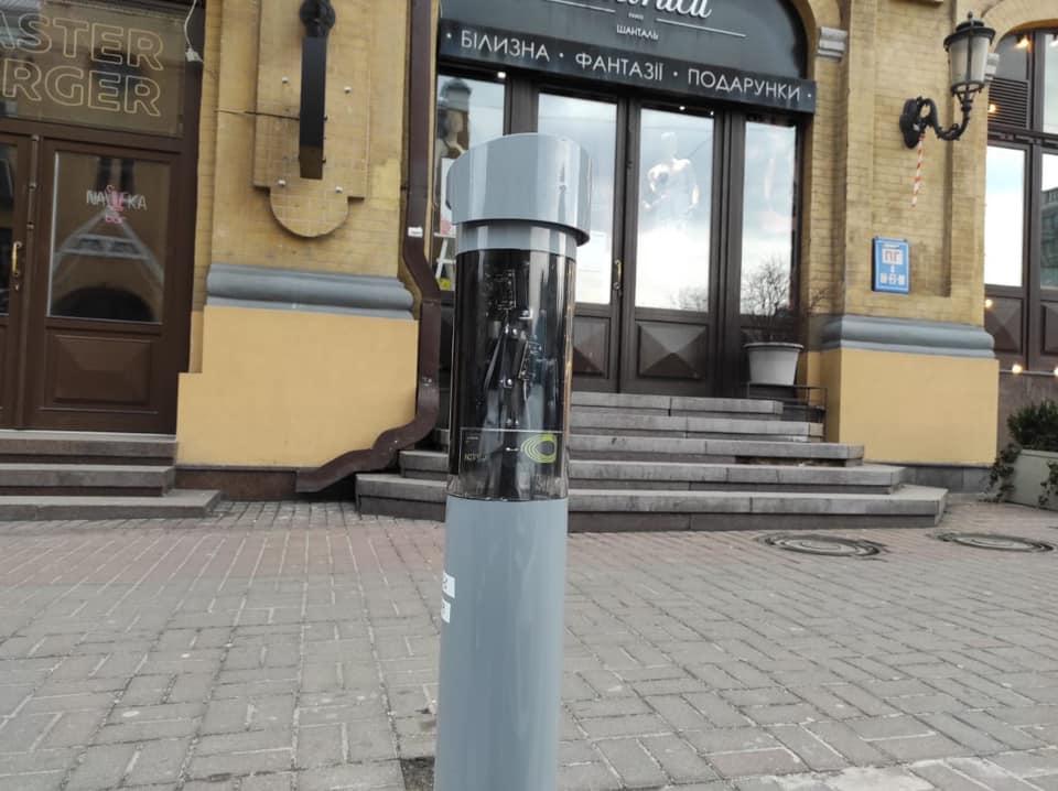 Инновационная система будет работать в течение 60 дней на вул. Бассейной, вблизи Бессарабской площади / фото facebook.com Alexandr Gustelev