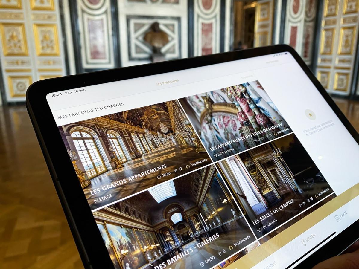 Версальський палац заговорив українською/ фото facebook.com/olenazelenska.official