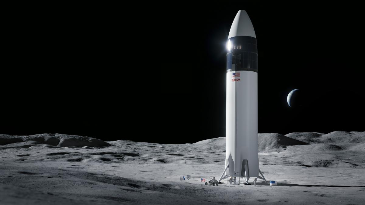 Новому модулю предстоит доставить на поверхность спутника двух американских астронавтов, одна из которых станет первой женщиной на Луне / фото nasa.gov