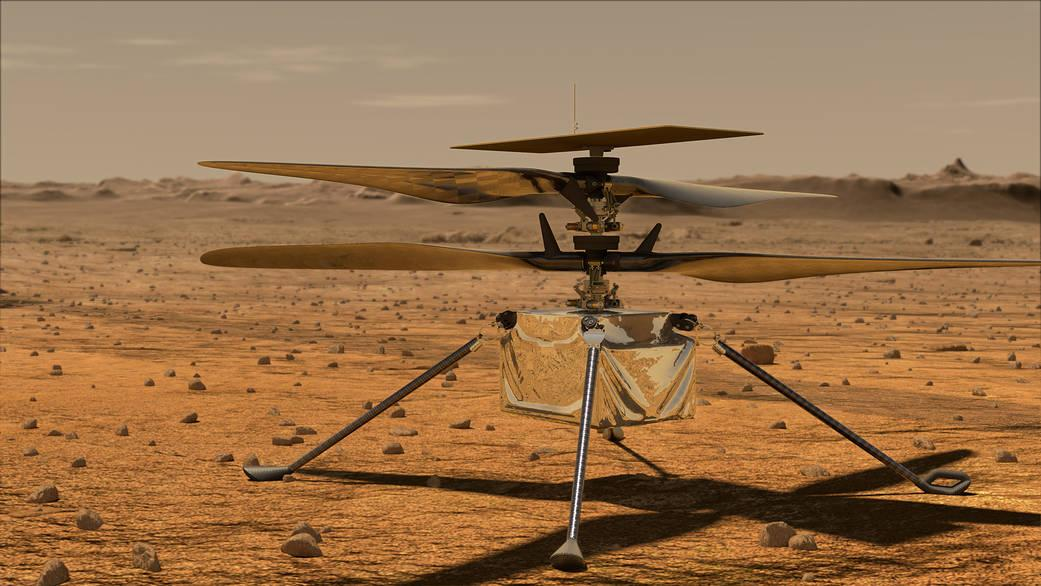 Ingenuity планируют запустить 19 апреля / фото NASA