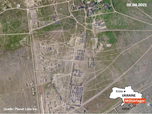 2 апреля российские оккупанты раскинули военный лагерь / фото spiegel.de