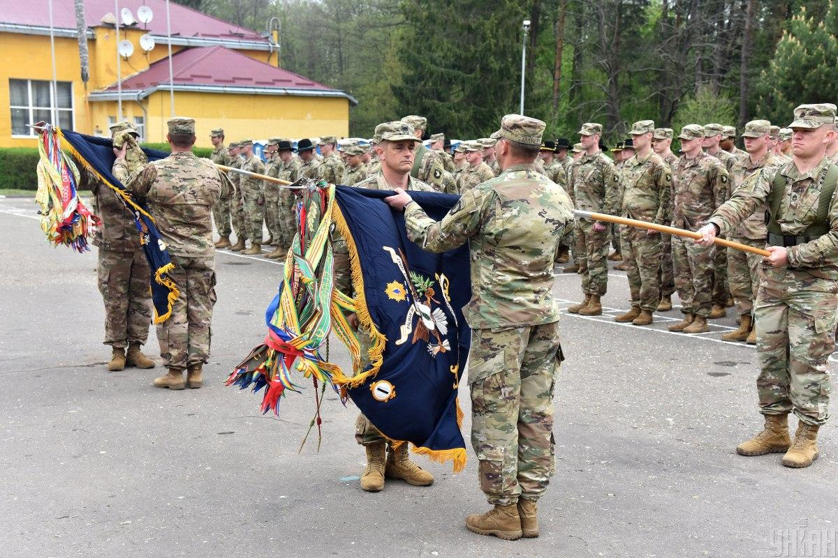 Церемонія передачі повноважень між американськими підрозділами (2 травня 2019 р.) / фото УНІАН, Павло Паламарчук