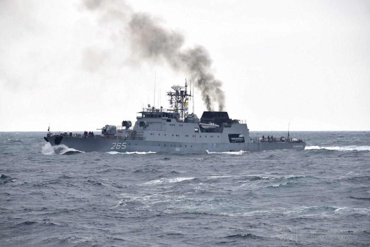 До тренування було залучено сили та засоби ВМС ЗСУ такорвет Horia Macellariu / фото ВМС ЗСУ