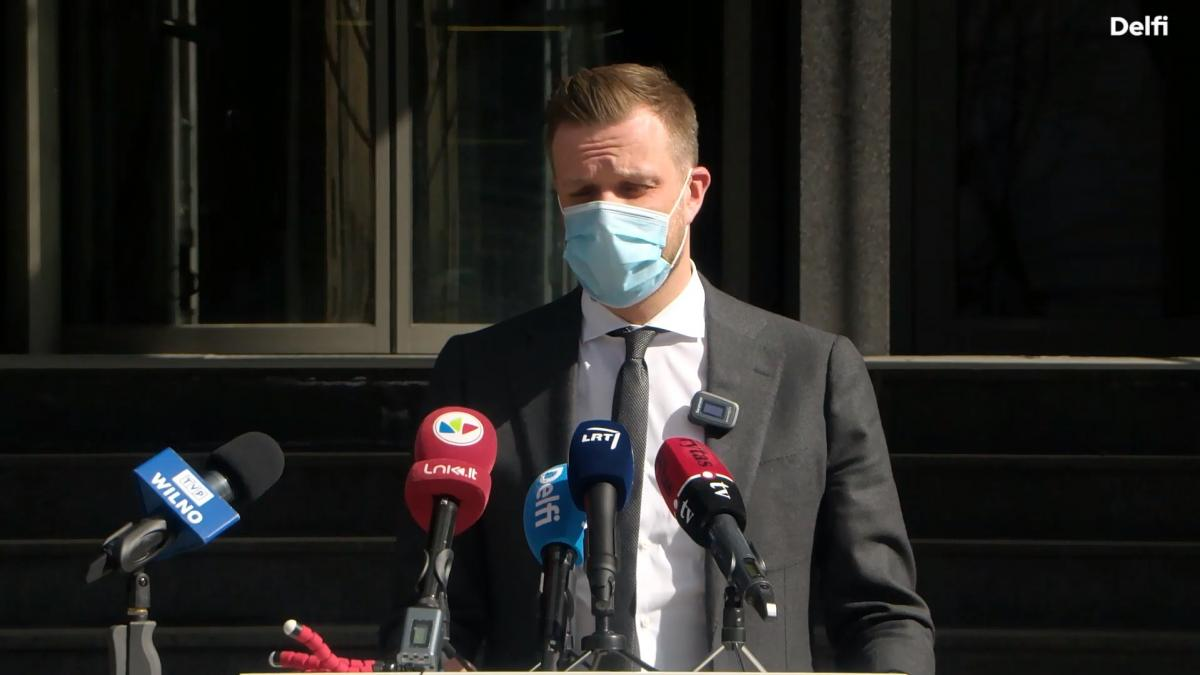 """Ландсбергис подчеркнул, что санкции нужно обсудить до пересечения """"красных линий""""/ скриншот из видео"""