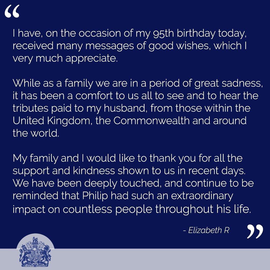 Обращение королевы Елизаветы ІІ/ фото twitter.com/RoyalFamily