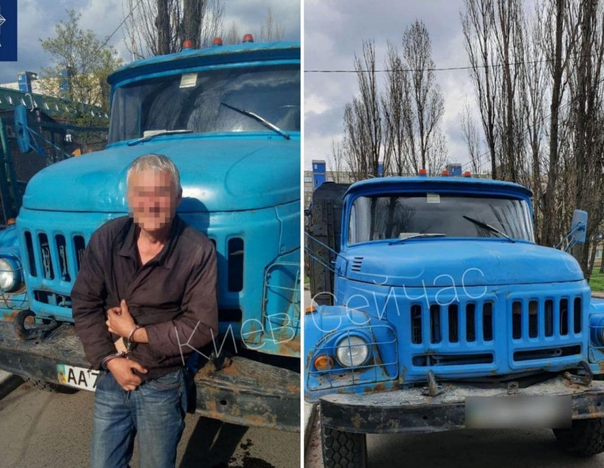 В Киеве пьяный мужчина угнал старый ЗИЛ / t.me/kyiv_n
