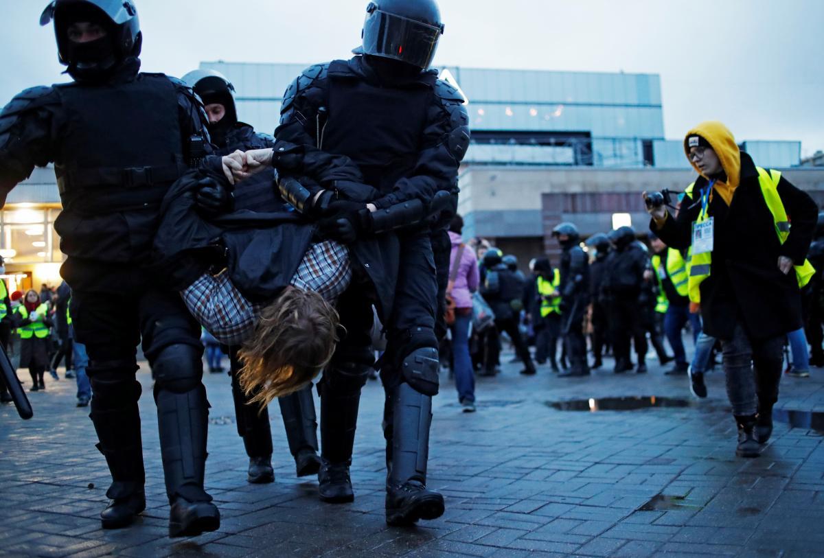 Затримання на акції на підтримку Навального / REUTERS