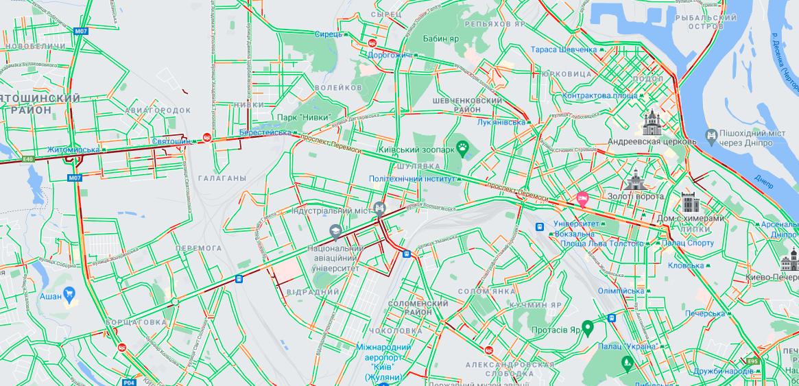 скриншот, Google Maps