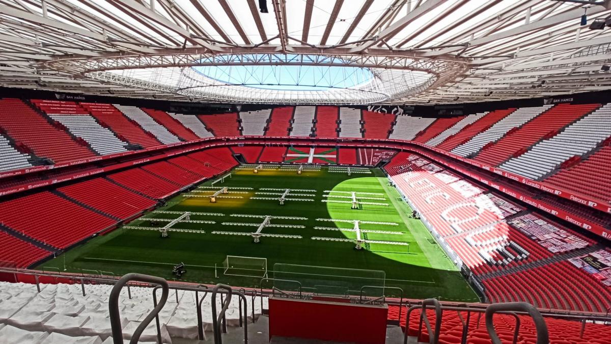 """Стадион """"Сан Мамес"""" в испанском городе Бильбао / фото REUTERS"""
