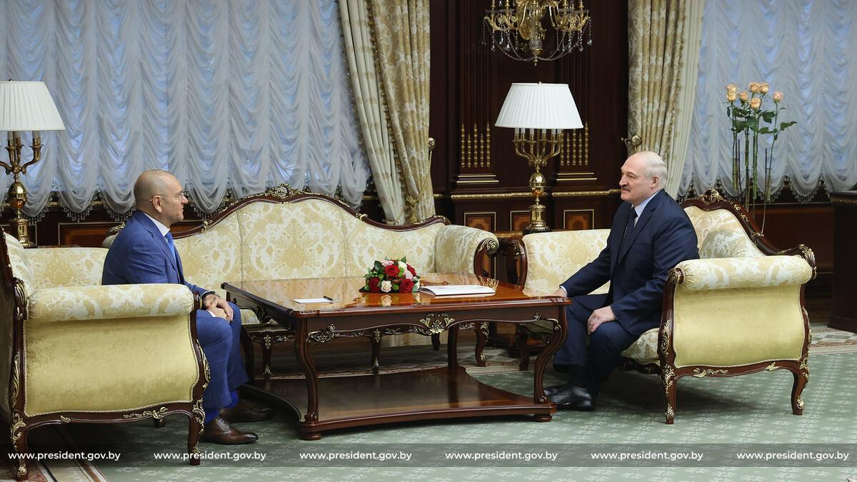 Шевченко і Лукашенко під час зустрічі / фото прес-служби Лукашенка