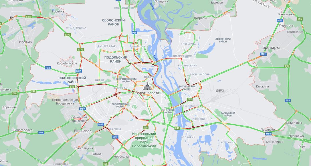 скріншот, Google Maps
