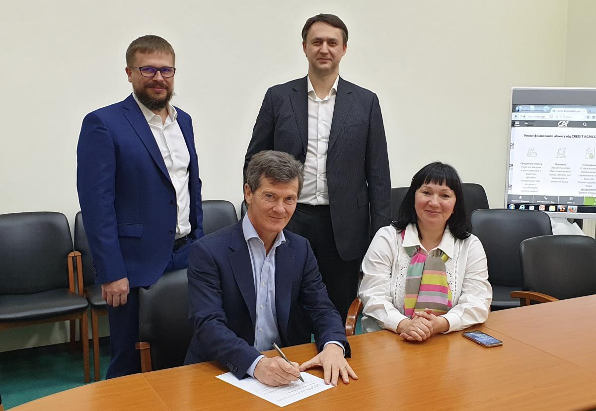 """Креді Агріколь підписав договір з ЄБРР та приєднався до програми """"Кредитна лінія EU4Business-EBRD"""""""
