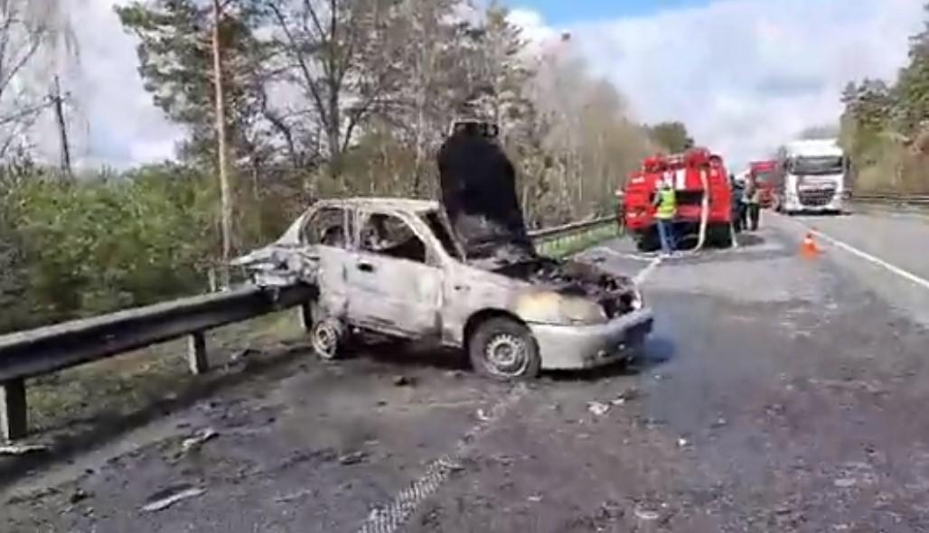 Водитель Daewoo погиб на месте в результате взрыва / скриншот