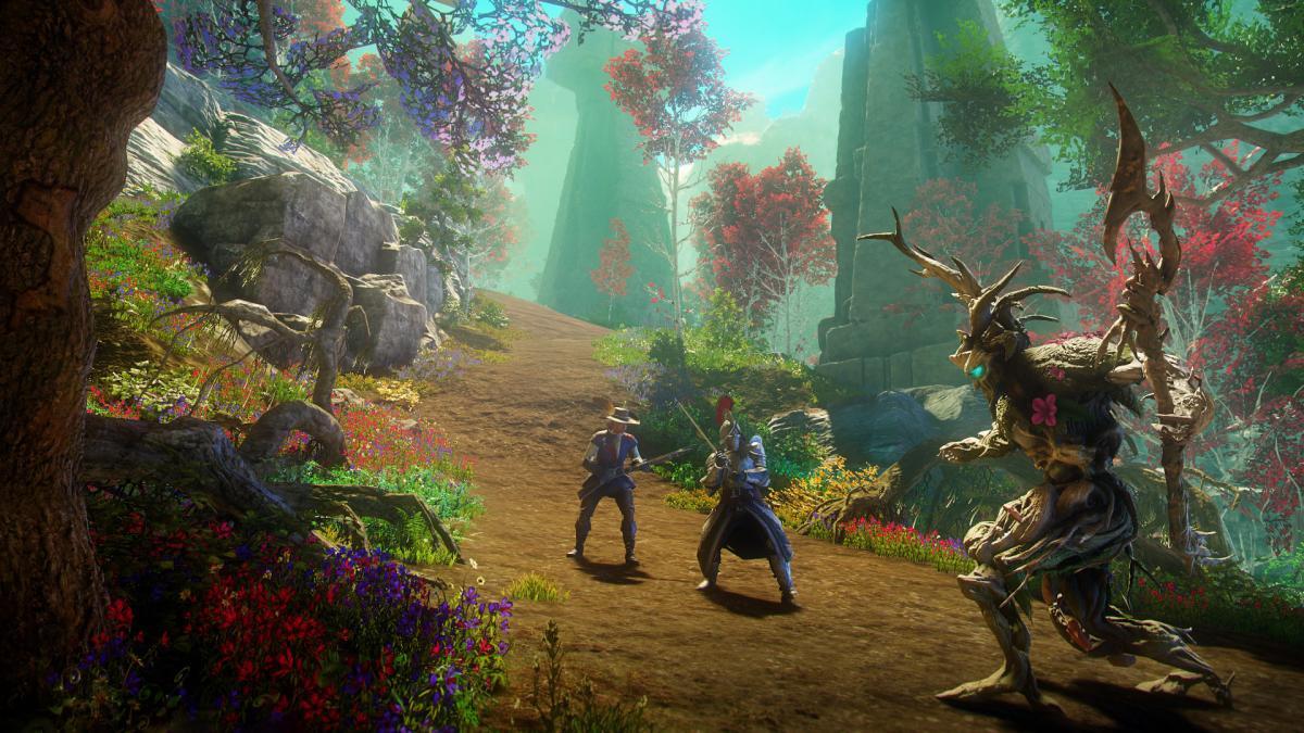 В New World планируют реализовать битвы с участием тысячи человек / скриншот