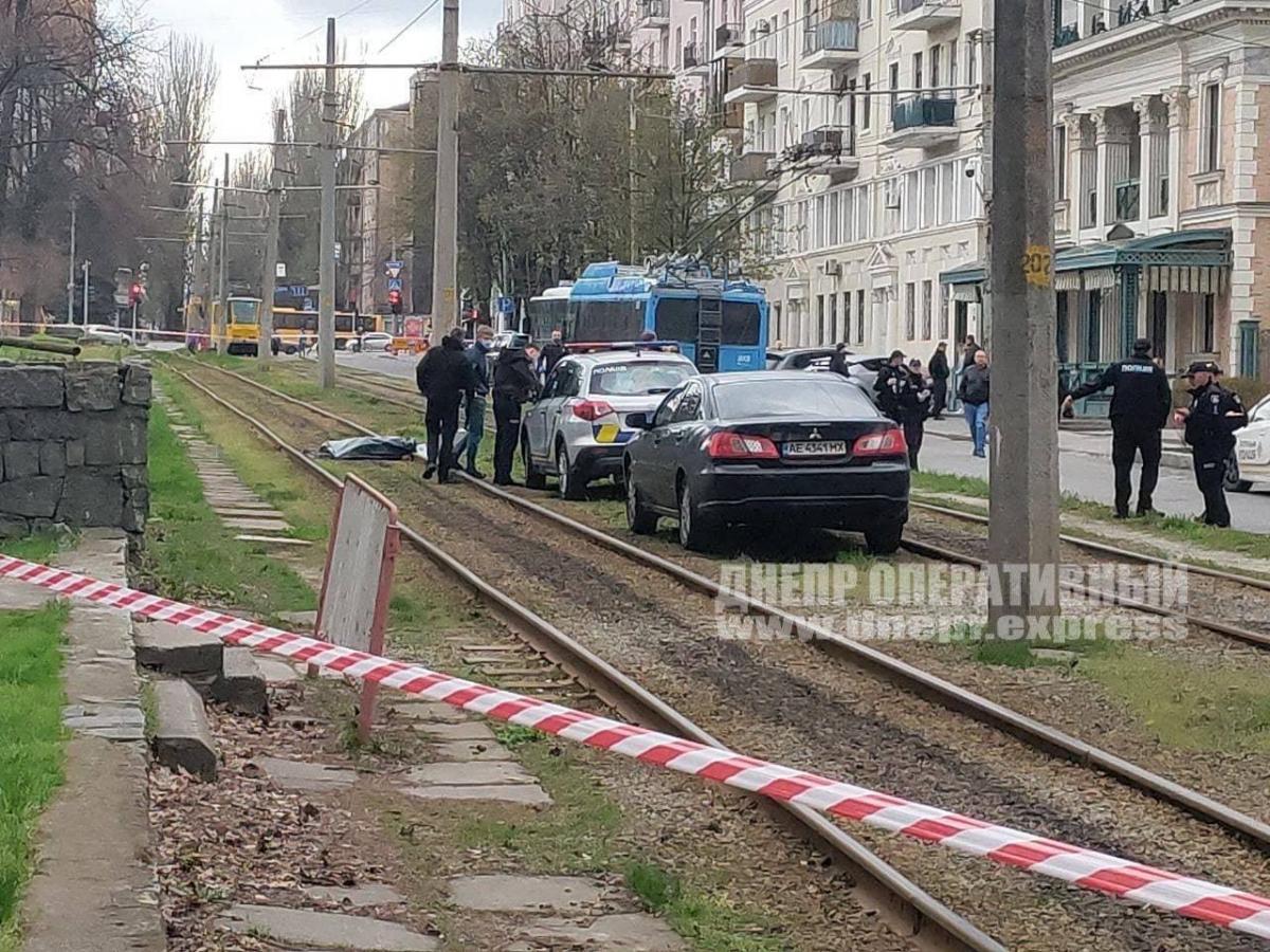 Убийство произошло в центре Днепра \ фото Днепр оперативный