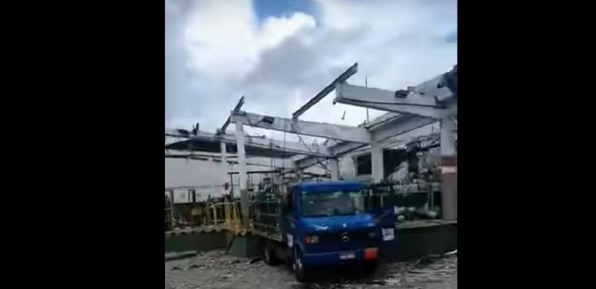 У Бразилії на кисневому заводі прогримів вибух / скріншот з відео