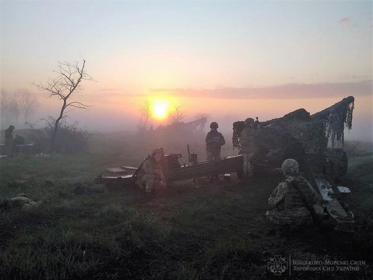 Артиллеристы тренировались выполнять задания в условиях ведения боевых действий при обороне морского побережья\ @navy.mil.gov.ua