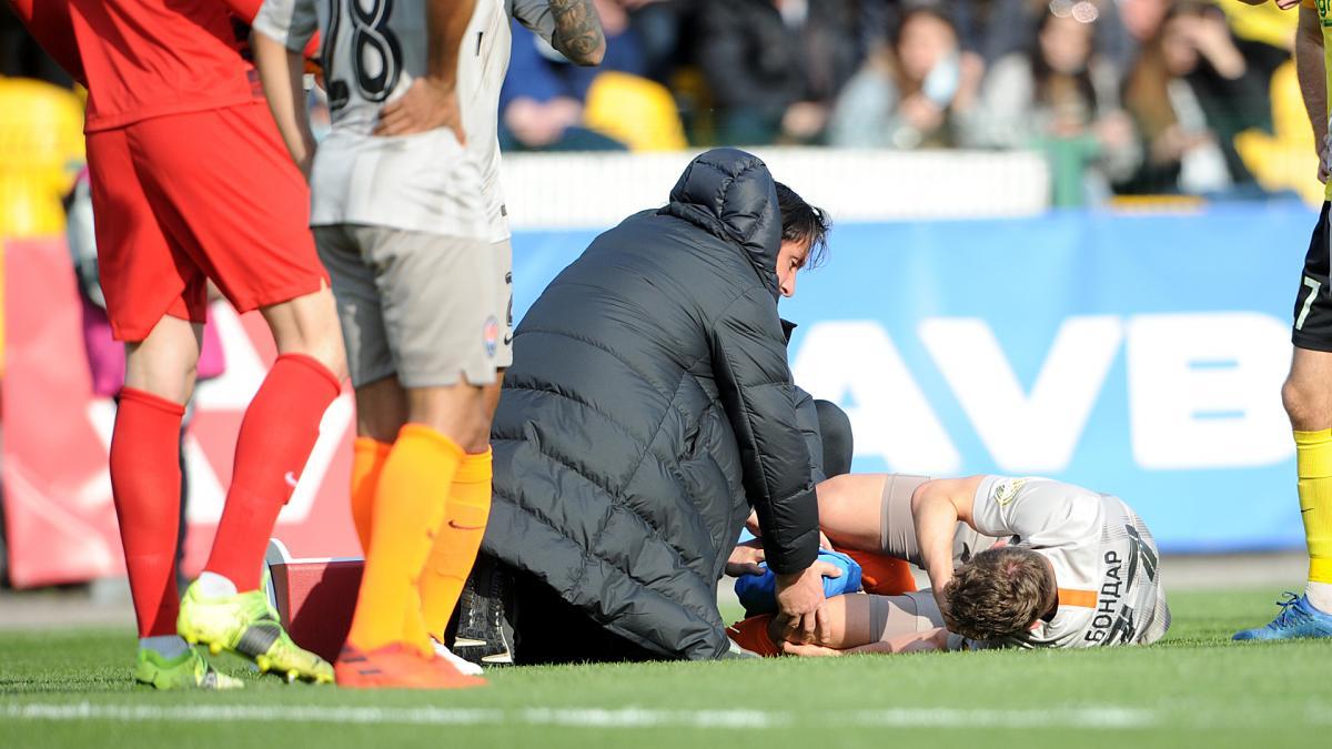 Валерий Бондарь травмировался в матче УПЛ / фото ФК Шахтер