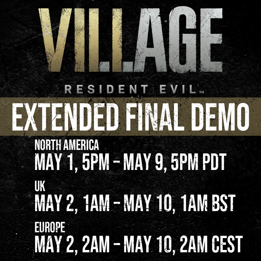 Даты доступа к демоверсии /фото twitter.com/RE_Games